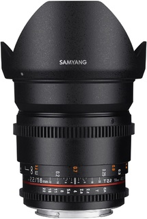 Объектив Samyang 16 mm T2.2 ED AS UMC CS VDSLR Nikon F (APS-C) (41095)